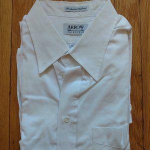Arrow Fairfield Pinpoint White Oxford Dress Shirt